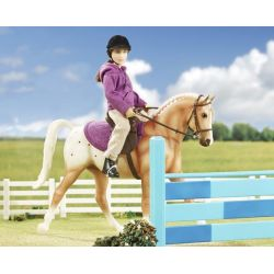 Breyer Classics 61069 - Koń i jeździec klasyczny fiolet