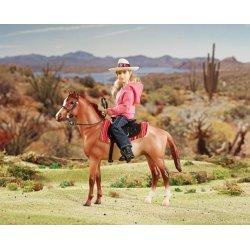 Breyer Classics 61070 - Koń i jeździec westernowy różowy
