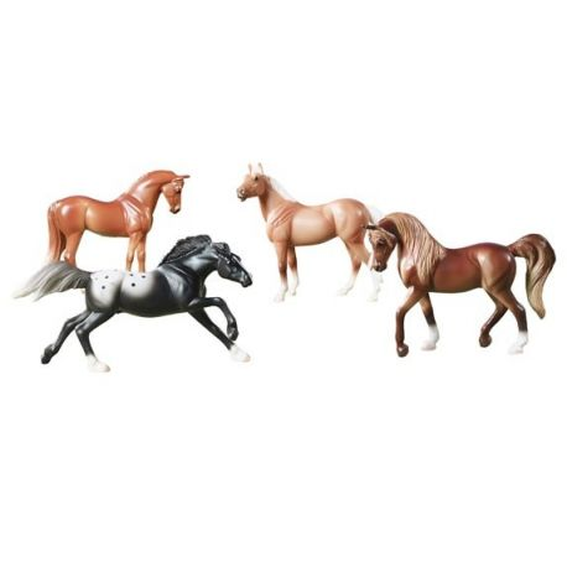 Breyer Stablemates 5397 - Figurki 4 koni seria Horse Crazy