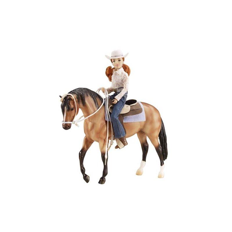 Breyer Traditional 1410 - Koń i jeździec westernowy