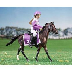Breyer Classics 62037 - Koń i jeździec wyścigowy liliowy