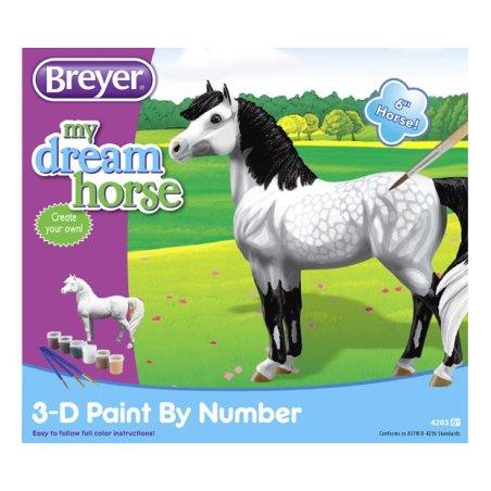 Breyer 4203 - Koń do malowania kucyk Siwek