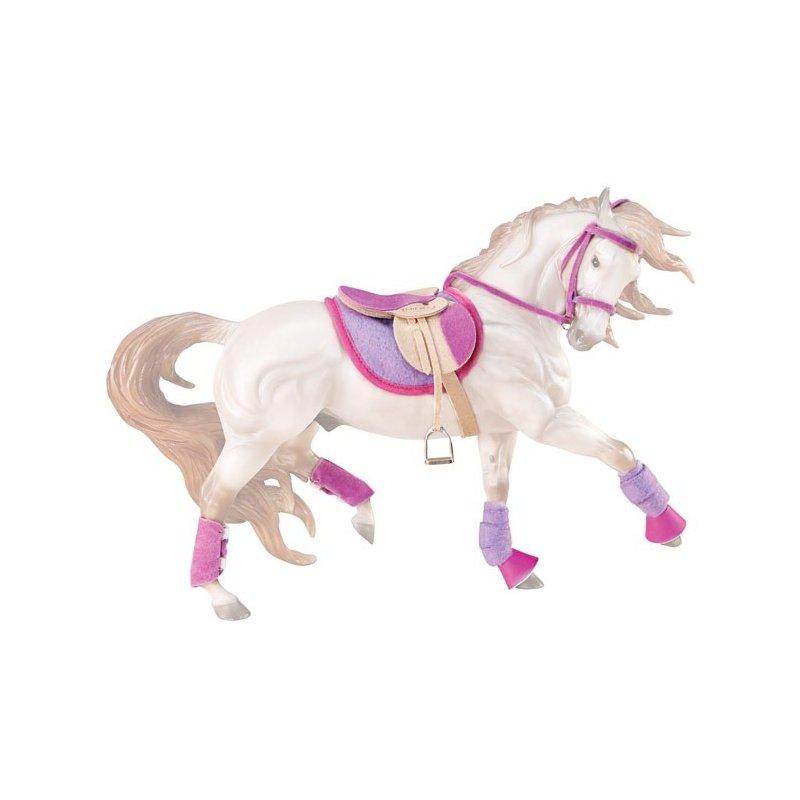 Breyer Traditional 2050 - Zestaw siodło i ogłowie różowo-fioletowy