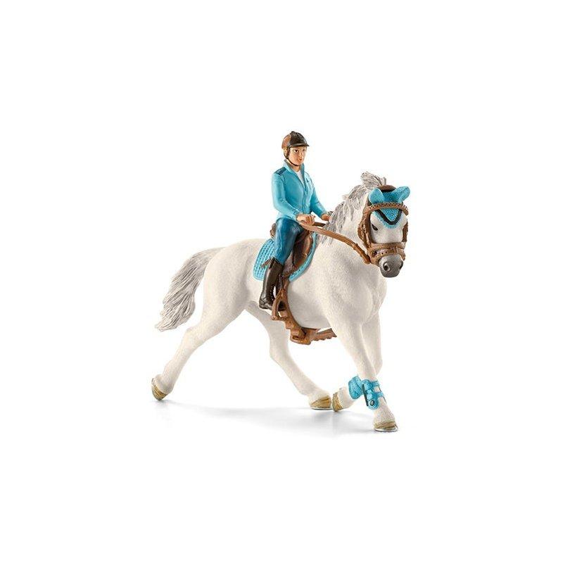 Schleich 42111 - Jeździec turniejowy z koniem i siodłem