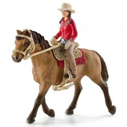 Schleich 42112 - Jeździec westernowy z koniem i siodłem