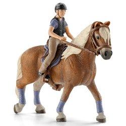 Schleich 42113 - Jeździec rekreacyjny z koniem i siodłem