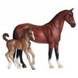 Breyer Classics 62033 - Gniady koń ciepłokrwisty ze źrebakiem