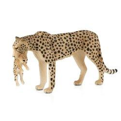 Mojo 387167 - Gepard grzywiasty samica z młodym