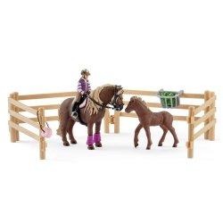 Schleich 42363 - Jeździec i kucyki islandzkie