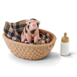 Schleich 42294 - Mała świnka z butelką