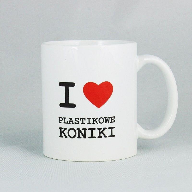 Kubek - I love plastikowe koniki