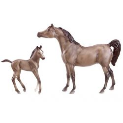 Breyer Classics 62047 - Koń Arabski i źrebię maści siwej