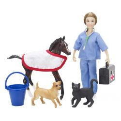Breyer 61039 - Pomoc weterynaryjna - lalka i zwierzaki
