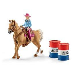 Schleich 41417 - Kowbojka w wyścigu wokół beczek