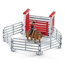 Schleich 41419 - Kowboj ujeżdżający byka rodeo