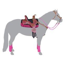 Breyer Traditional 2072 - Zestaw do barrel racing siodło róż