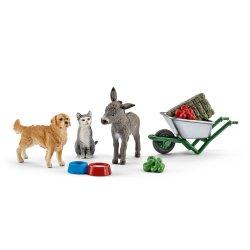 Schleich 41423 - Zestaw do karmienia zwierząt na farmies