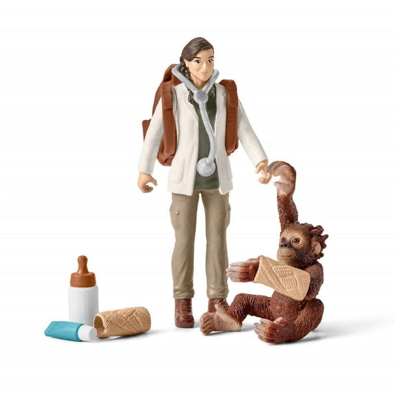Schleich 42353 - Weterynarz i orangutan