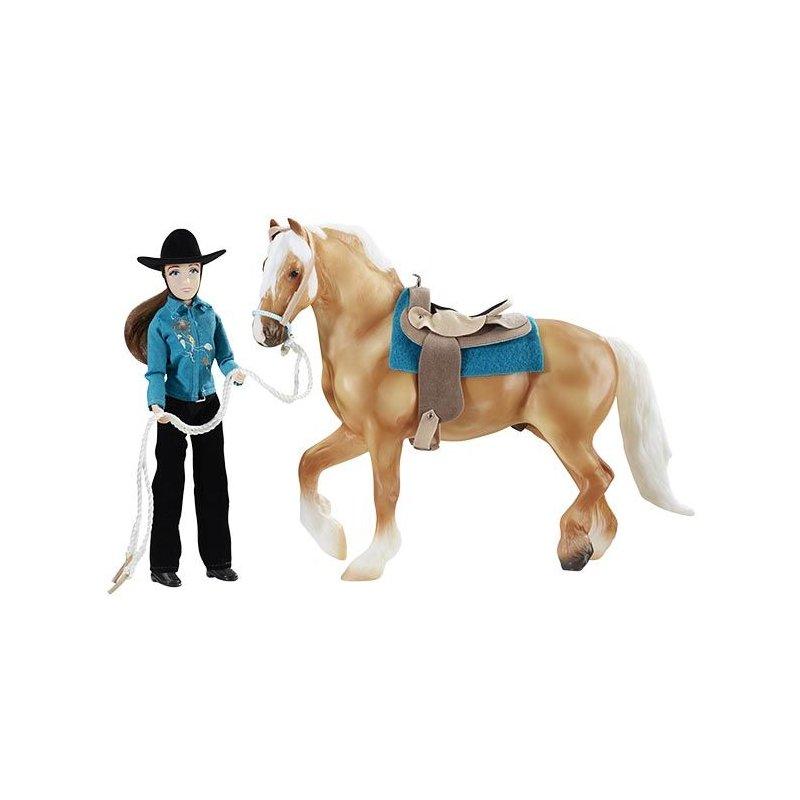 Breyer Traditional 1788 - Koń i jeździec westernowy