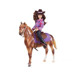 Breyer Classics 61116 - Koń i jeździec westernowy fioletowy