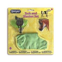 Breyer Classics 66117 - Siodło i ogłowie angielskie z derką zieleń