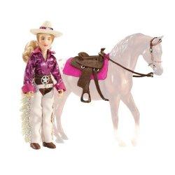 Breyer Classics 61053 - Lalka Kaitlyn kowbojka z siodłem westernowym