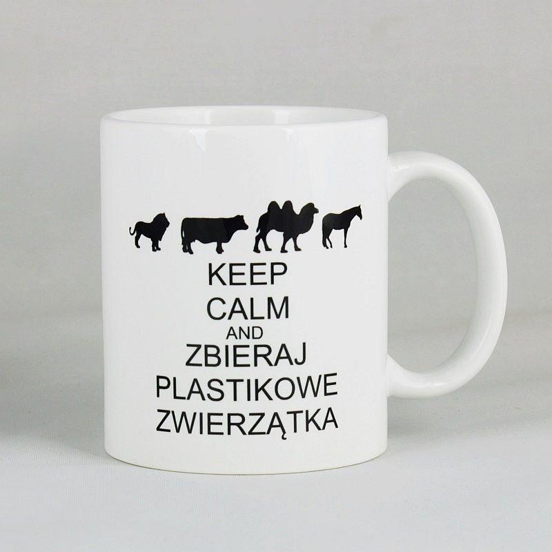 Kubek - Keep calm and zbieraj plastikowe zwierzątka