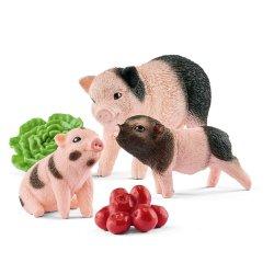 Schleich 42422 - Miniaturowa świnka i prosiaki