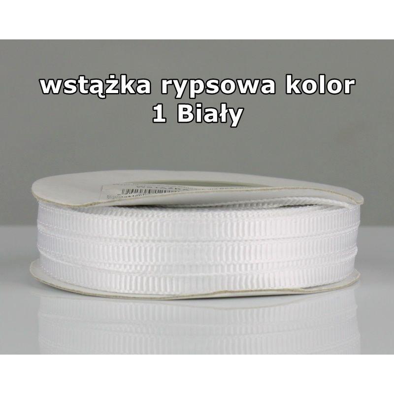Wstążka rypsowa 3mm/1m kolor 1 Biały