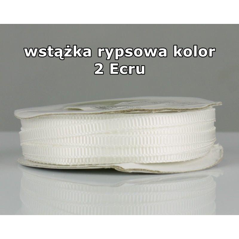 Wstążka rypsowa 3mm/1m kolor 2 Ecru