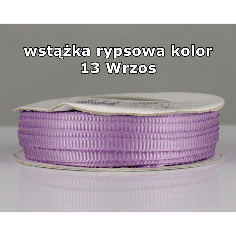 Wstążka rypsowa 3mm/1m kolor 13 Wrzos