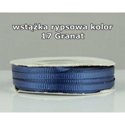 Wstążka rypsowa 3mm/1m kolor 17 Granat