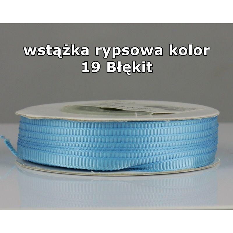 Wstążka rypsowa 3mm/1m kolor 19 Błękit