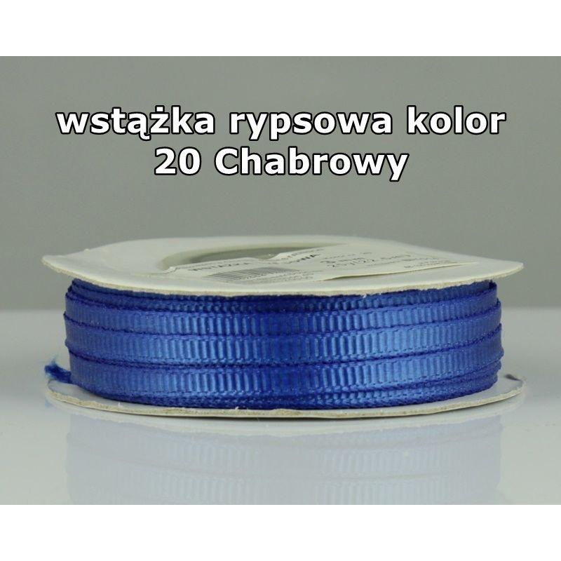 Wstążka rypsowa 3mm/1m kolor 20 Chabrowy