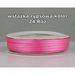 Wstążka rypsowa 3mm/1m kolor 24 Róż