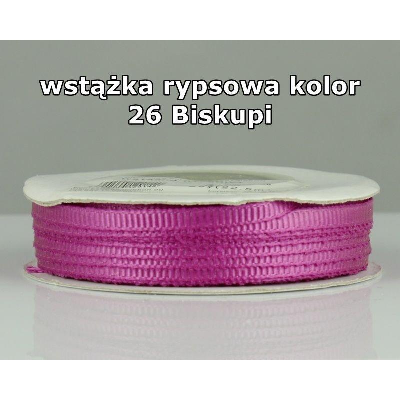 Wstążka rypsowa 3mm/1m kolor 26 Biskupi