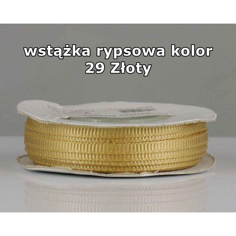 Wstążka rypsowa 3mm/1m kolor 29 Złoty