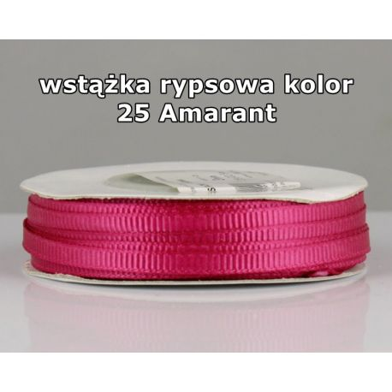 Wstążka rypsowa 3mm/1m kolor 25 Amarant
