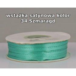 Wstążka satynowa 3mm/1m kolor 34 Szmaragd