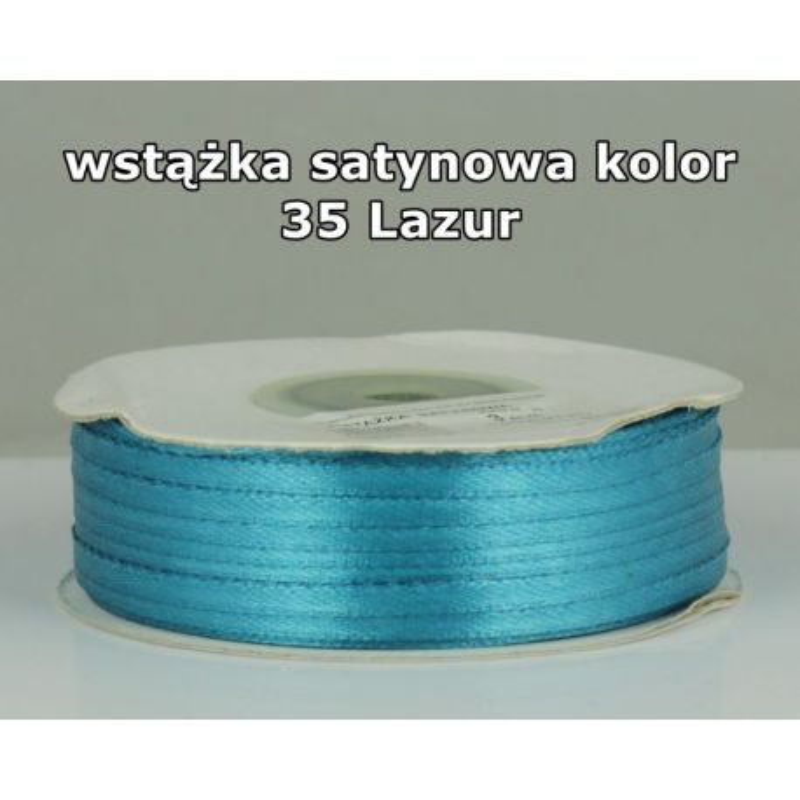 Wstążka satynowa 3mm/1m kolor 35 Lazur