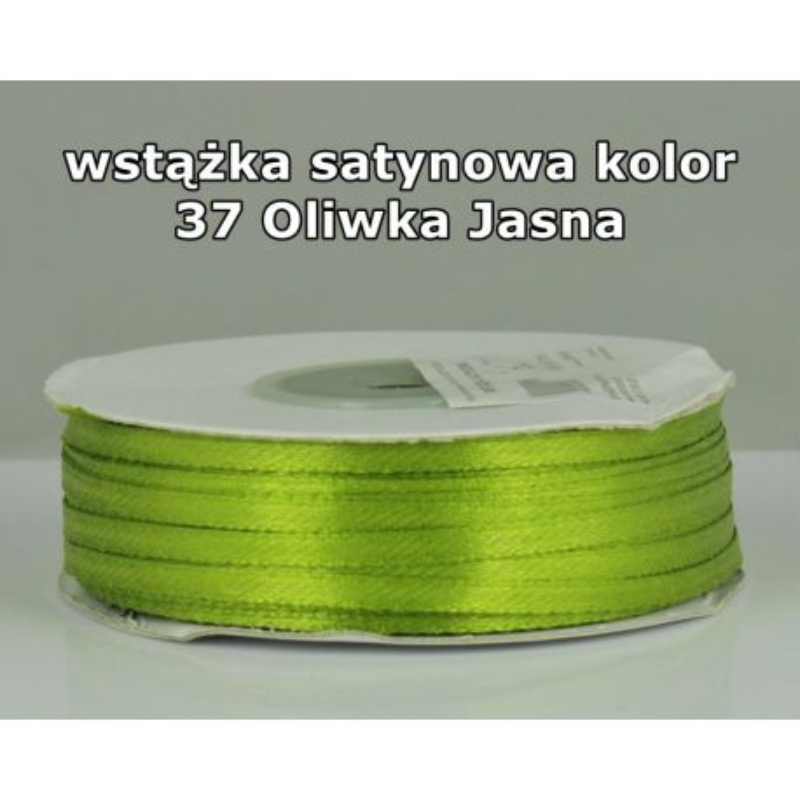 Wstążka satynowa 3mm/1m kolor 37 Oliwka Jasna