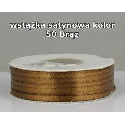 Wstążka satynowa 3mm/1m kolor 50 Brąz