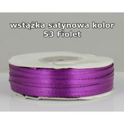 Wstążka satynowa 3mm/1m kolor 53 Fiolet