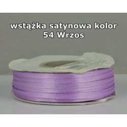 Wstążka satynowa 3mm/1m kolor 54 Wrzos