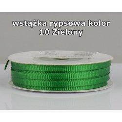 Wstążka rypsowa 3mm/1m kolor 10 Zielony