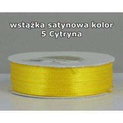 Wstążka satynowa 3mm/1m kolor 5 Cytryna