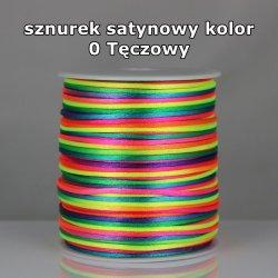 Sznurek satynowy 2mm/1m kolor 0 Tęczowy