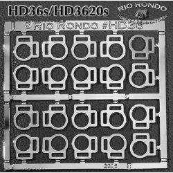 Rio Rondo skala TR - HD3620s zestaw 20x sprzączki podwójne srebrne