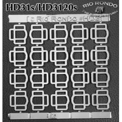 Rio Rondo skala TR - HD3120s zestaw 20x sprzączki potrójne srebrne