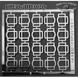 Rio Rondo skala TR - HD3020s zestaw 20x sprzączki potrójne srebrne